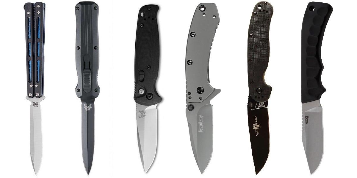 Tipos de Facas e Canivetes